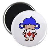 Canadian Flag Dress Girl Magnet