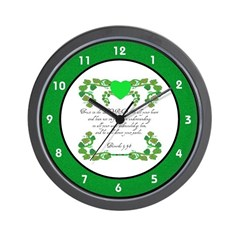 Proverbs Christian Hearts Flowers Wall Clock