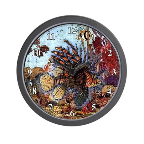 Lion Turkey Fish Clocks Wall Clock