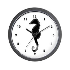 Seahorse Silhouette Ocean Sea Wall Clock