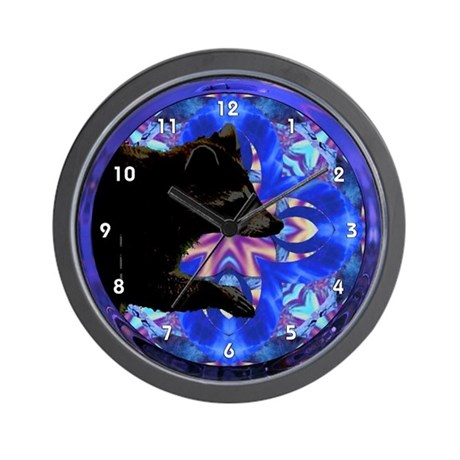 Racoon Kaleidoscope Clocks Wall Clock