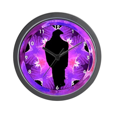 Eagle Silhouette Kaleidoscope Clocks Wall Clock