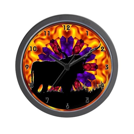 Texas Longhorn Clocks Wall Clock