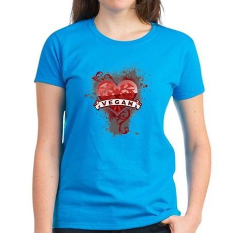 Heart Vegan Women's Dark T-Shirt