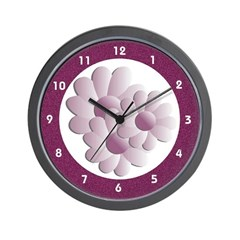 Three Daisy Flower Floral Wall Clock