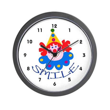 Kids Smile Clown Clocks Wall Clock
