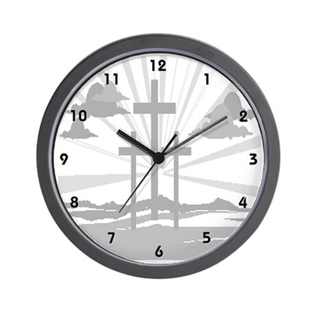Three Crosses on Calvary Clocks Wall Clock