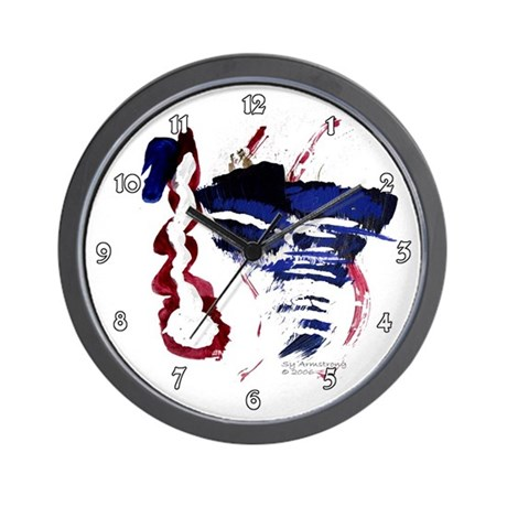 Abstract River Kids Clocks Wall Clock