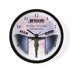 Jesus is the Bridge between Man and God Wall Clock