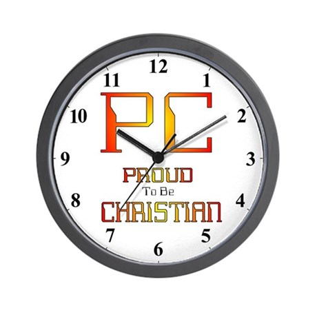 PC Proud to be Christian Clocks Wall Clock
