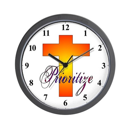 Prioritize Rainbow Cross Clocks Wall Clock