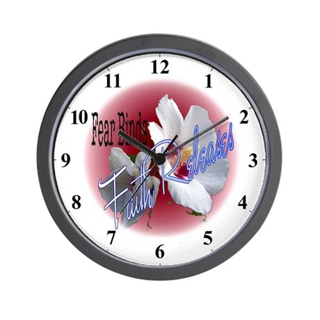 Fear Binds - Faith Releases Flower Wall Clock