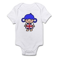 Girl in Union Jack Dress Infant Bodysuit