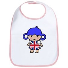 Girl in Union Jack Dress Bib