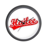 Retro Hailee (Red) Wall Clock