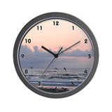 Ocean Scene Seascape Sea Gulls Clocks Wall Clock