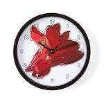 Canna Flower Floral Garden Clocks Wall Clock