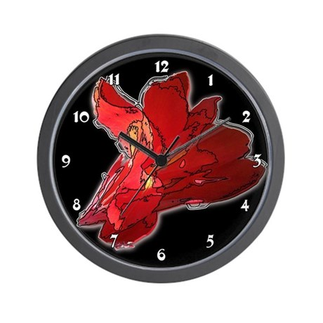 Canna Flower Floral Garden Clocks Wall Clock