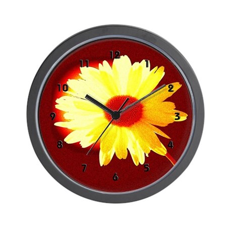 Yellow Sunshine Daisy Clocks Wall Clock