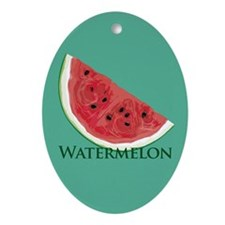 Watermelon Slice Oval Ornament