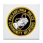 Philly Police PR Tile Coaster