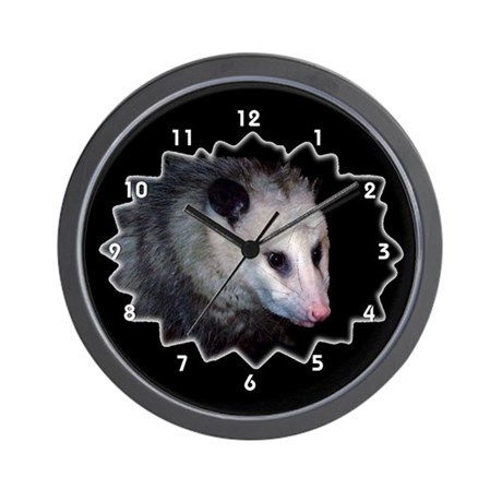 Possum Opossum Clocks Wall Clock