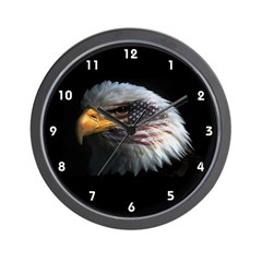 Bald Eagle USA American Flag Clocks Wall Clock