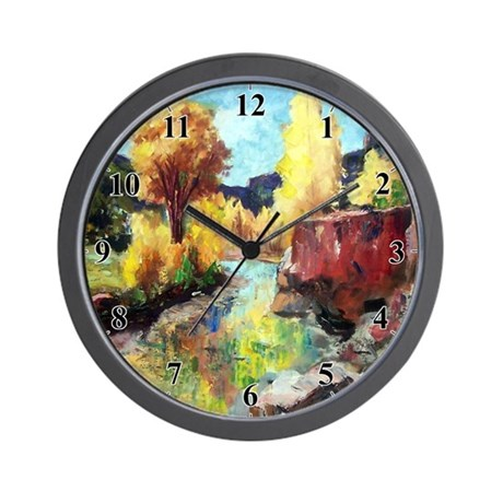 Autumn Canyon River Clocks Wall Clock