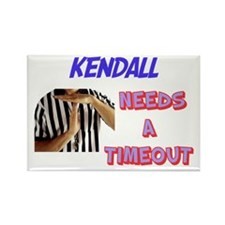 Kendall Needs a Time-Out Rectangle Magnet