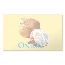 Yellow Onion Rectangle Decal