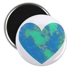 "Earth Heart 2.25"" Magnet (100 pack)"