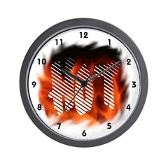 Hot Fire Flames Clocks Wall Clock