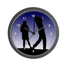 Golf Golfers Golfing Silhoutte Clocks Wall Clock