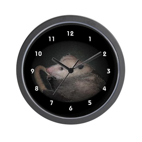 Sleepy Time Possum Opossum Clocks Wall Clock