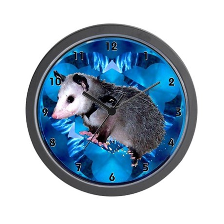 Possum Opossum Baby Blue Clocks Wall Clock