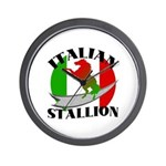 Italian Stallion Wall Clock