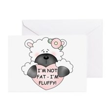 I'M NOT FAT Greeting Cards (Pk of 20)