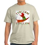 Italian Stallion Ash Grey T-Shirt
