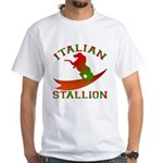 Italian Stallion White T-Shirt