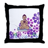 Java Buddha Throw Pillow