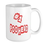 #1 Poo Head Coffee Mug