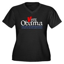 Obama Gives Good Oratory Women's Plus Size V-Neck