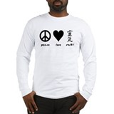 Peace, Love & Reiki Long Sleeve T-Shirt