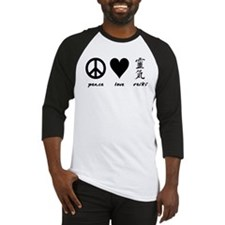 Peace, Love & Reiki Baseball Jersey