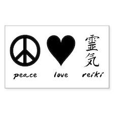 Peace, Love & Reiki Rectangle Decal