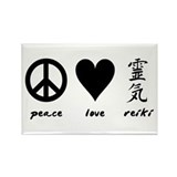 Peace, Love &amp; Reiki Rectangle Magnet
