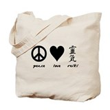 Peace, Love & Reiki Tote Bag