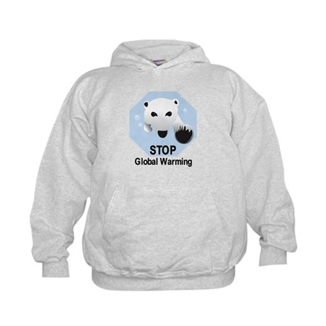 Stop Global Warming Kids Hoodie