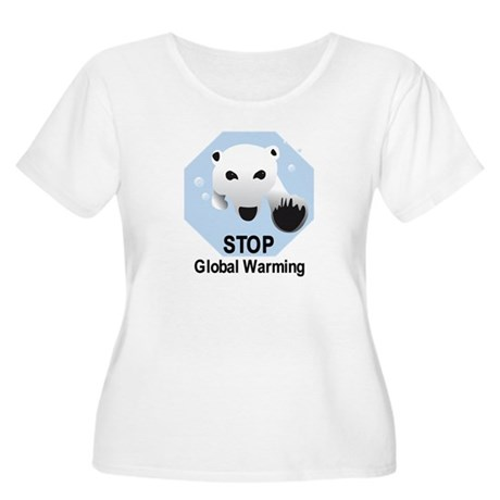 Stop Global Warming Women's Plus Size Scoop Neck T
