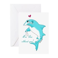 Miss You Shark Greeting Cards (Pk of 20)